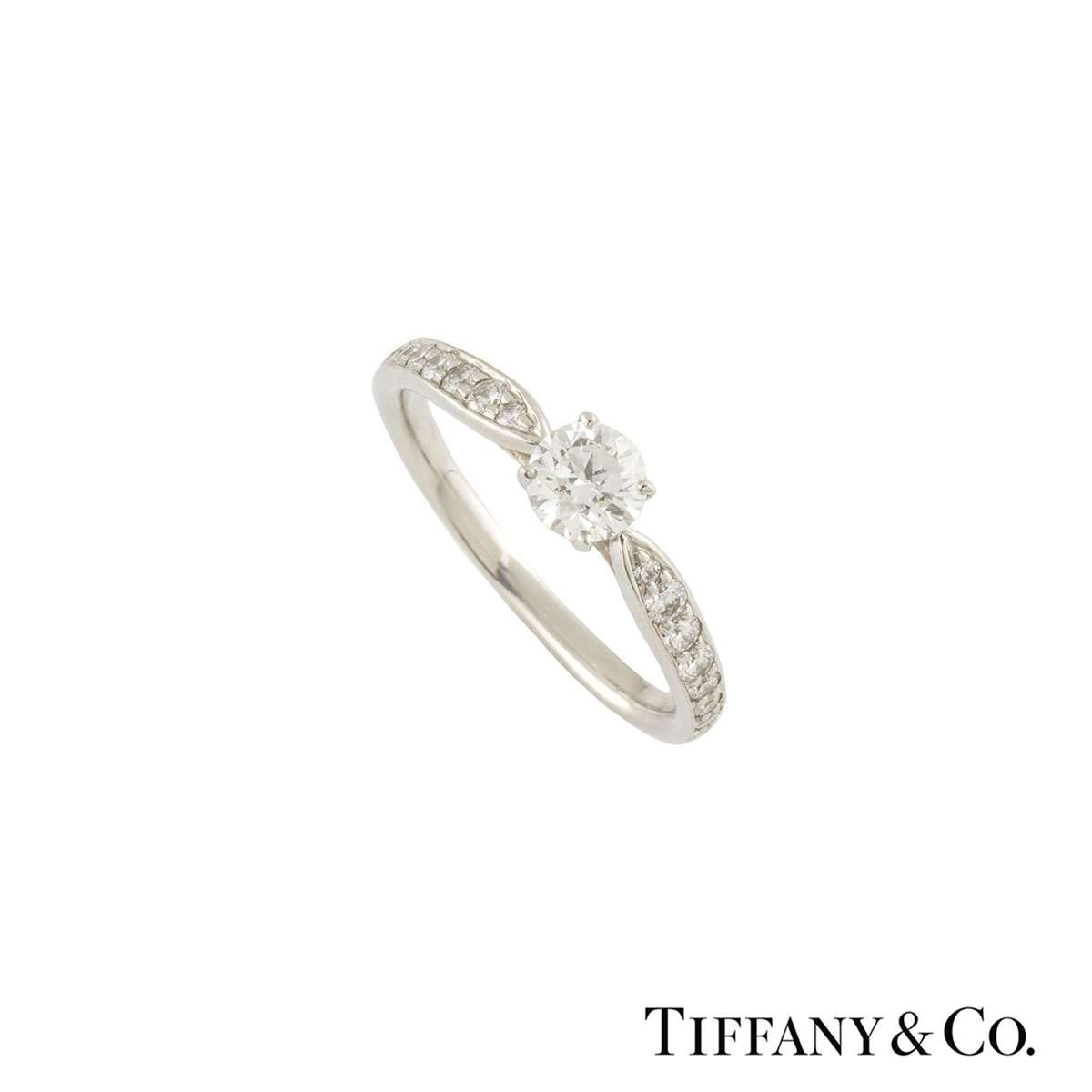 Cartier Solitaire Diamond Ring 0 42ct F Vvs2